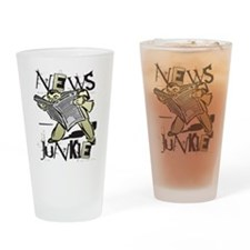 News Junkie Pint Glass