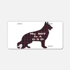 BFF German Shepherd Aluminum License Plate