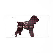 BFF Black Russian Terrier Aluminum License Plate