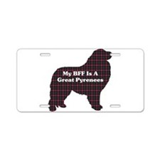 BFF Great Pyrenees Aluminum License Plate