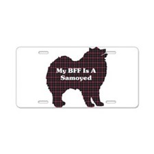 BFF Samoyed Aluminum License Plate