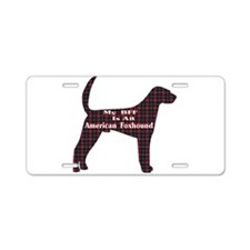 BFF American Foxhound Aluminum License Plate
