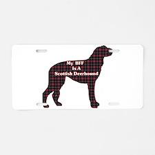 BFF Scottish Deerhound Aluminum License Plate