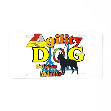 Belgian Malinois Agility Aluminum License Plate