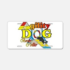 Border Collie Agility Aluminum License Plate