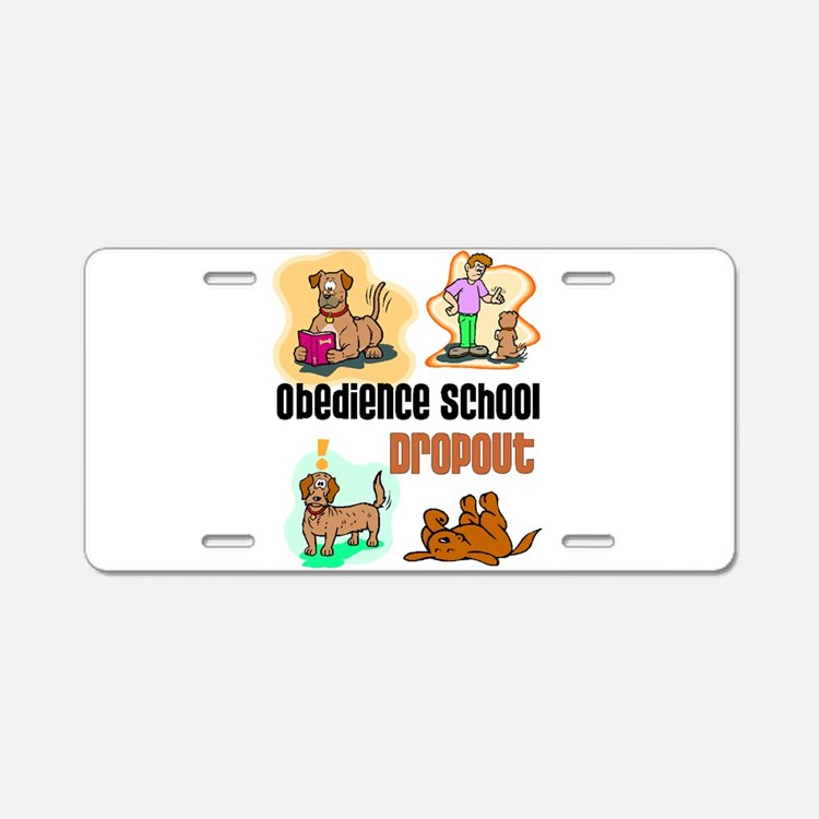 Cute Obedience Aluminum License Plate