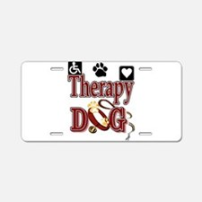 Therapy Dog Aluminum License Plate