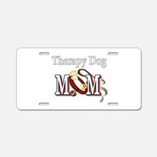Therapy Dog Mom Aluminum License Plate