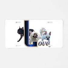 French Bulldog Love Aluminum License Plate