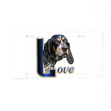 Bluetick Coonhound Love Aluminum License Plate