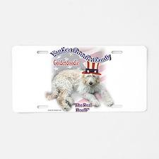 Yankee Goldendoodle Aluminum License Plate