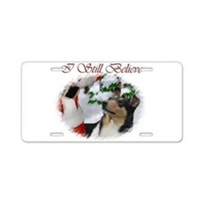 Smooth Collie Christmas Aluminum License Plate