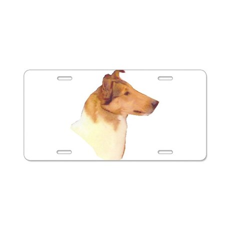 Smooth Collie Gifts Aluminum License Plate
