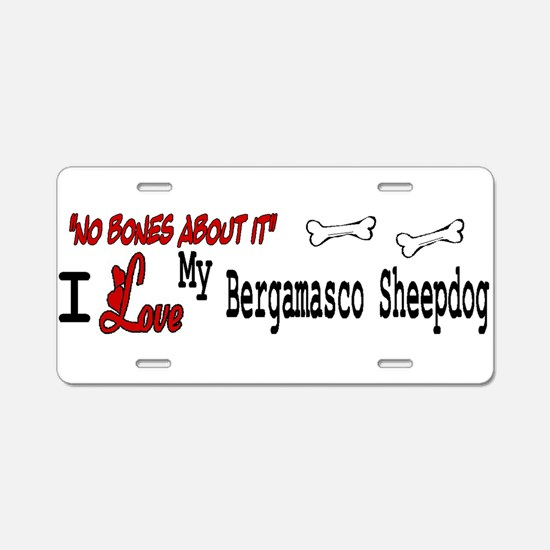 NB_Bergamasco Sheepdog Aluminum License Plate