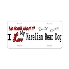 NB_Karelian Bear Dog Aluminum License Plate