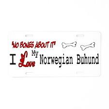 NB_Norwegian Buhund Aluminum License Plate