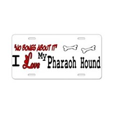 Pharaoh Hound Gifts Aluminum License Plate