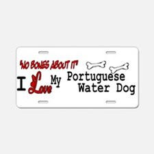 NB_Portuguese Water Dog Aluminum License Plate