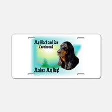 Coonhound Gifts Aluminum License Plate