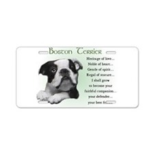 Boston Terrier Gifts Aluminum License Plate