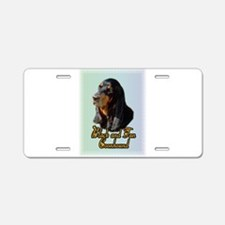 Black and Tan Coonhound Aluminum License Plate