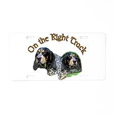 Bluetick Coonhound Aluminum License Plate