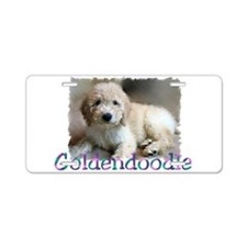 Goldendoodle Aluminum License Plate