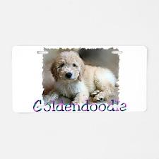 Goldendoodle Aluminum License Plate