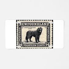 Vinatage Newfoundland Postage Aluminum License Pla