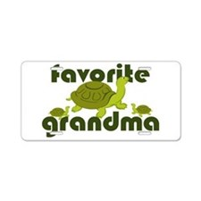 Favorite Grandma Aluminum License Plate