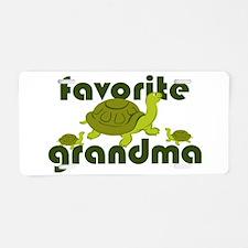 Favorite Grandma Aluminum License Plate