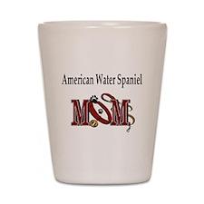 American Water Spaniel Shot Glass