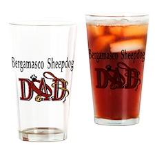 Bergamasco Sheepdog Dad Pint Glass