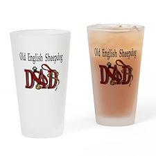 Old English Sheepdog Dad Pint Glass