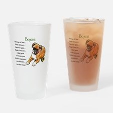 Boxer Puppy Pint Glass