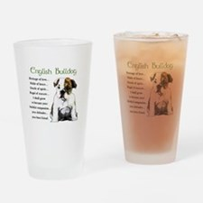 English Bulldog Pint Glass