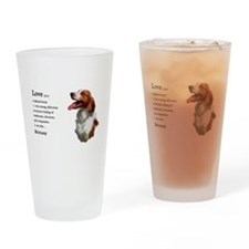 American Brittany Spaniel Drinking Glass