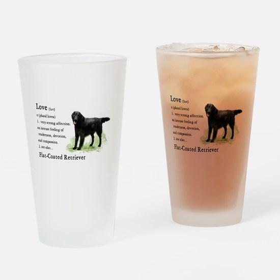 Flat-Coated Retriever Drinking Glass
