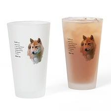 Shiba Inu Love Drinking Glass