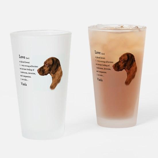 Vizsla Love Is Drinking Glass