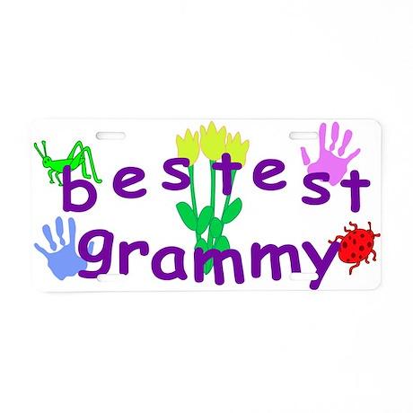 Bestest Grammy Aluminum License Plate