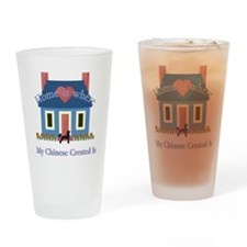 Chinese Crested Home Pint Glass