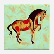 Cute Equine art Tile Coaster