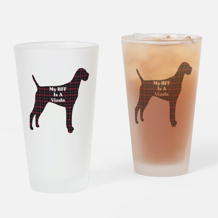 BFF Vizsla Pint Glass