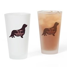 BFF Longhaired Dachshund Pint Glass