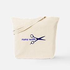 Runs with Scissors Tote Bag