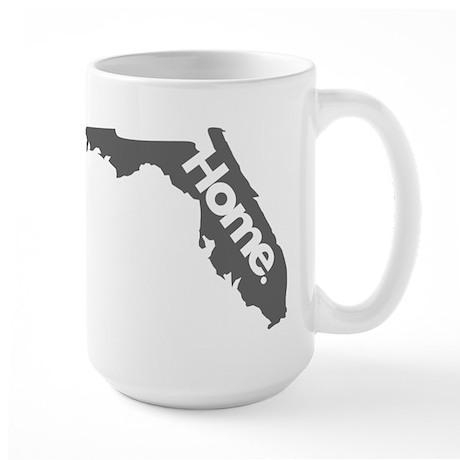 Florida - Home - Gray Large Mug