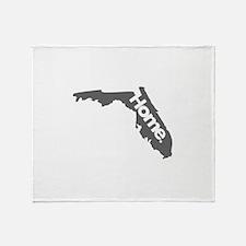 Florida - Home - Gray Throw Blanket