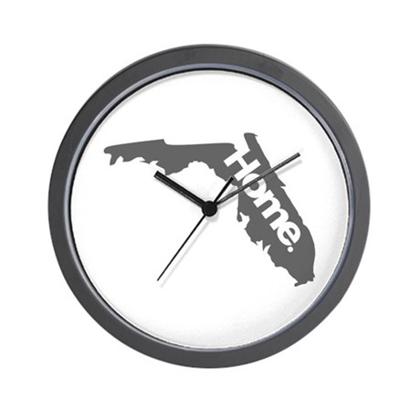 Florida - Home - Gray Wall Clock
