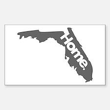 Florida - Home - Gray Sticker (Rectangle)